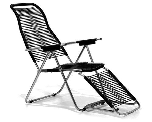 Spaghetti Solstol, Svart - Udendørs lounge stole