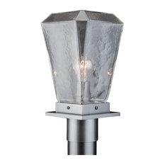 Outdoor Beacon Post Mount, Argento Grey, Clear Glass, E26