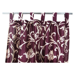 """Mogul Interior - Patterned Curtains Luxurious Drapes Drapery Window Panels Pair Tab Top, 48""""x96"""" - Curtains"""