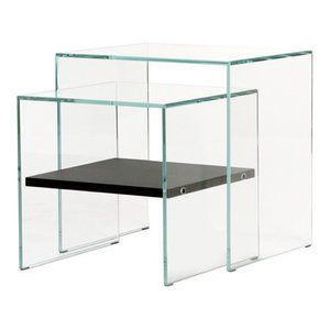 Zen Sister Glass Coffee Tables, Set of 2