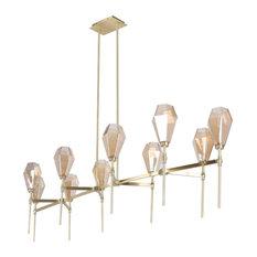 Marco Chandelier 10 Light Brass Chandelier, Brass