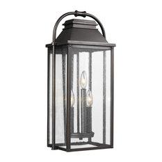 Feiss 3-Light Outdoor Lantern, Bronze