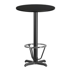 "24"" Round Laminate Table-X-Base, Black"