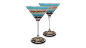 Mosaic Carnival Martini Glasses, Set of 2