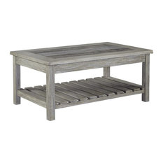 Ashley Furniture Home Rectangular Tail Table In Whitewash Finish Coffee Tables