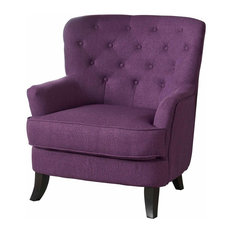 Delicieux GDFStudio   Annelia Tufted Fabric Club Chair, Purple   Armchairs And Accent  Chairs