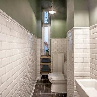 Photos et idées déco de WC et toilettes avec un carrelage métro ...