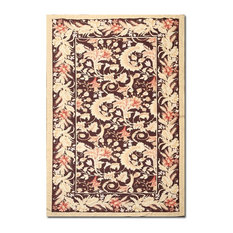 "5'9""X10'5"" Multi Color Hand Woven Rug In French Aubusson Needlepoint Design"