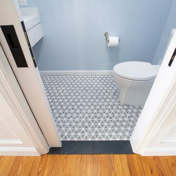 Blue-Gray Mosaic Floor Tile