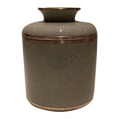 Celedon Tissue Box, Dark Taupe