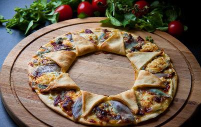 DIY: Пицца по-французски в форме звезды с копченой уткой