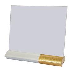 modern white picture frames. Elegant Gift - White Two Tone Photo Frame, Gold Leaf, 25x22 Cm Picture Modern Frames