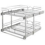 """Rev-A-Shelf - Two-Tier Pull-Out Baskets, 20.75""""w X 22""""d X 19""""h - Rev-A-Shelf's redesigned Two-Tier baskets make other 2-shelf units fail in comparison. With the heavy gage construction, ball-bearing slides on both baskets, and multiple mounting points this is the best two-tier unit on the market. With 100lb slides on each basket you don't have to worry about overloading or bending. Multiple sized width and depths are available, so you are sure to find the exact unit that fits your exact cabinet size. Optimize the performance, by adding the optional door mount kit to add a truly one-step opening/closing process (sold separately - 5WB-DMKIT) This unit features:"""