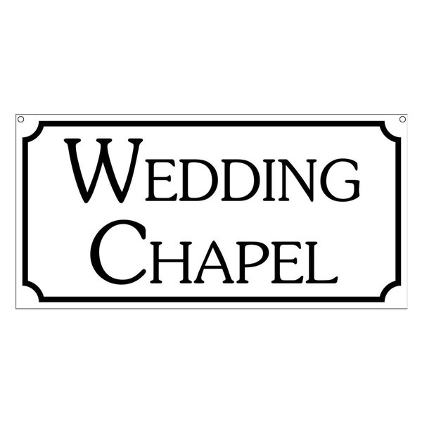 Wedding Chapel Sign, Aluminum TV Movie Film Cosplay, 6