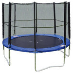 Super Jumper - Super Jumper Trampoline With Safety Net, 12' - The Super Jumper Trampoline With Safety Net is the best option for fun, safe trampoline play. The trampoline features galvanized steel frames to provide support and stability, a UV-coated trampoline mat to prevent sun damage, and a plush safety pad that covers the zinc-plated steel springs. The trampoline also comes with a tall mesh safety net designed to prevent accidental falls.