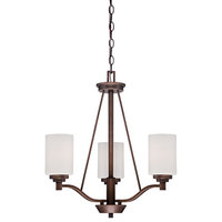 Millennium Lighting 3153-RBZ Durham Chandelier In Rubbed Bronze