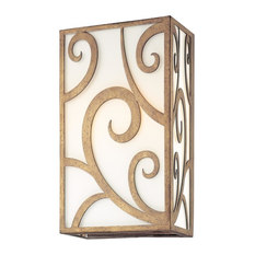 Troy Lighting - Troy Wall Sconce Revolution Bronze Hand-Forged Iron 60 W 1-Light 8 quot; - Wall Scon