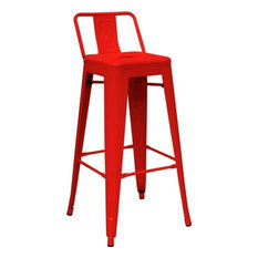 Modrest Modern Red Metal Barstool - Bar Stools and Counter Stools  sc 1 st  Houzz & Modern Metal Bar Stools u0026 Counter Stools | Houzz islam-shia.org