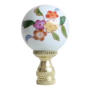 "Beautiful Green Marble Style Jade Stone Ball Table Lamp Finial 2.5/"""
