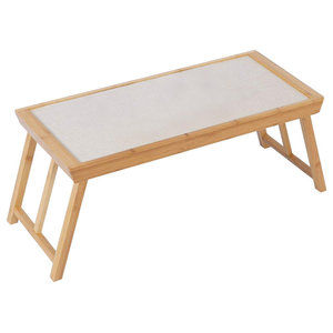 Contemporary Multi-purpose Low Table, Solid Hardwood With Foldable Design