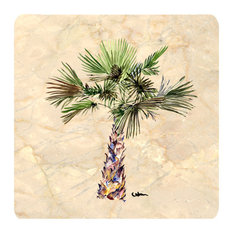 Tree - Palm Tree Foam Coasters, Set of 4