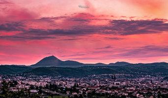 Crépuscule sur Clermont-Ferrand