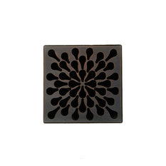 Unique Grate Splash Drain, Oil Rubbed Bronze