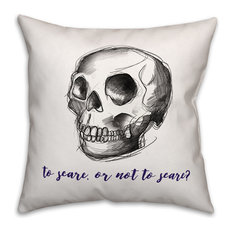 Designs Direct Creative Group - To Scare or Not to Scare 16 quot;x16 quot; Indoor   Outdoor Pillow -