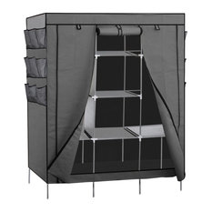 oxgord oxgord portable closet gray clothes racks - Clothes Racks