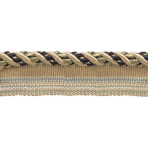 """By The Yard Pink Green LT Green 4//16/"""" Decoractive Lip Cord Dusty Olive Rose"""