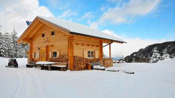 Jagdhütten, Berghütten und Almhütten