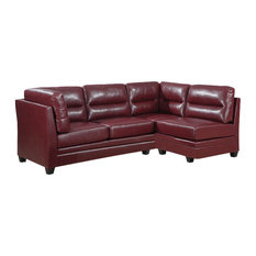 Lovely Monarch Specialties   Bonded Leather Armless Chair, Red   Sectional Sofas