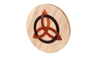 Round Maple Cutting Board with Celtic Trinity