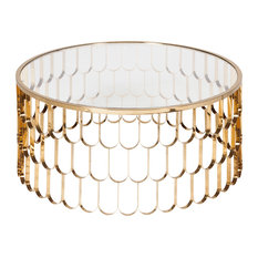 Jewel Brushed Gold Coffee Table