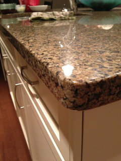 Looking for pictures of eased and quarter round countertop for 1 inch granite countertops