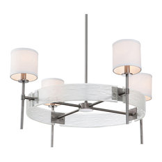Torchlight Ring Chandelier, Oil Rubbed Bronze, Bronze Granite