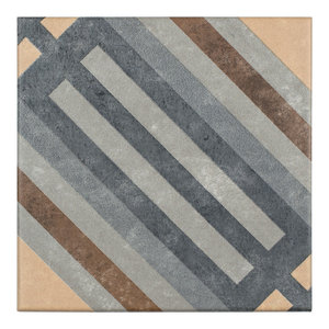 """7""""x7"""" Europa Porcelain Floor and Wall Tile, Rail, Set of 30"""