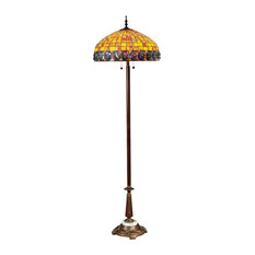 Orange Turtleback Floor Lamp