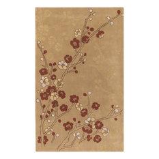 Surya   5u0027x8u0027 Cherry Blossom Hand Tufted Wool Rug ...