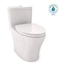 Toto Aquia IV 1P Elong 2-Flush 1.28 and 0.8GPF Toilet Colonial White