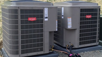 2 top of the line Bryant units installed at a brand new residential location