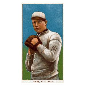 New York Giants Red Ames Baseball Card Print Traditional