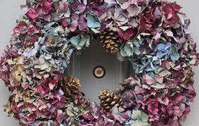 Hazlo tú mismo: Cómo realizar una corona de hortensias