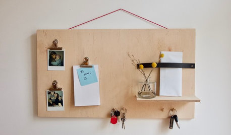 Stauraum-DIY: Eine coole Pinnwand selber machen