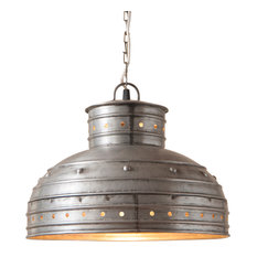 Breakfast Table Pendant in Brushed Tin