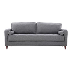 Divano Roma Furniture   Saulsiberry Sofa, Light Gray   Sofas