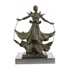 Collectible Rare Dali Dalinian Dancer Museum Quality Bronze Sculpture Statue Art