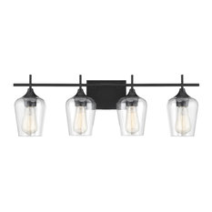 Octave 4 Light Bathroom Vanity Light in Black