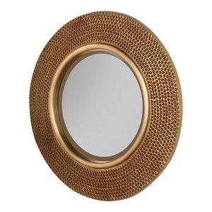 Brienne Wall Mirror, Gold, 79x79 cm