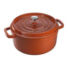 Staub Cast Iron 7-qt Round Cocotte, Burnt Orange
